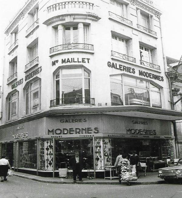 Les Galeries Modernes à Auxerre à ses débuts avant T10